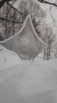 星形の氷のオブジェ