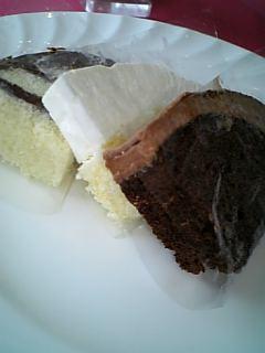 森の時計のケーキ