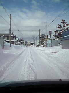 いきなりの雪景色