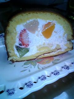 ロールケーキ断面