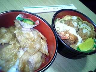 豚丼&エビ丼